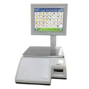 Весы электронные торговые с печатью этикеток CAS CL7000-15S TCP-IP