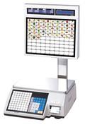 Весы электронные торговые с печатью этикеток CAS CL5000J-15IS TCP-IP