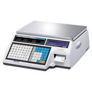 Весы электронные торговые с печатью этикеток CAS CL5000-15B TCP-IP