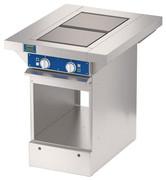 Двухконфорочная плита без жарочного шкафа  ATESY ЭПЧ-9-2-6
